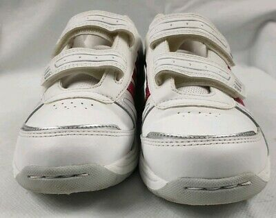 Adidas Originals Girls White Pink Adifit Trainers Shoes UK Size 1 EU 33 Used VGC