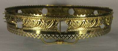 """New 10"""" Fitter Solid Brass Shade Holder With Banding To Accept Jewels #SH745G"""