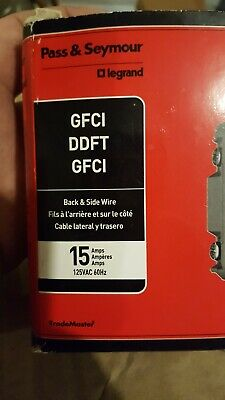 lot of 2 GFCI Duplex RECEPTACLE 15 Amp 125V Trade Master by Pass & Seymour