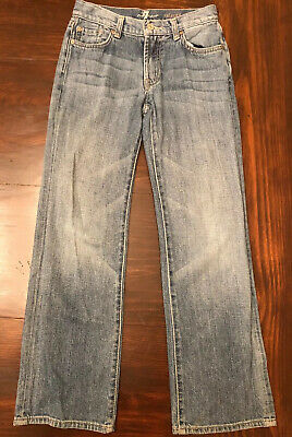 Boys Size 10 Relaxed Fit 7 For All Mankind Light Wash Jeans Straight