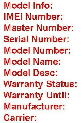 Official Samsung IMEI Check FAST: Warranty+ Blacklist+ Carrier+ Serial # Number