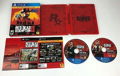 Red Dead Redemption II 2 Ultimate Edition for PS4 Playstation 4 / Steelbook