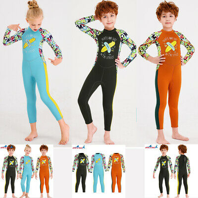 Kids One-piece Diving Suit 2.5mm Surfing Wetsuit SCR Neoprene Thermal Swimsuit