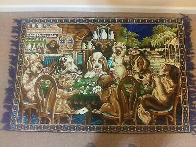 Vintage Dogs Playing Poker Rug Tapestry