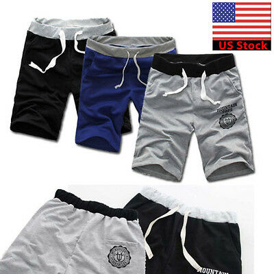 HOT Men Summer Cotton Shorts Pants Shorts  Gym Trousers Sport Jogging Trousers