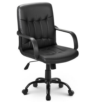 Racing Adjustable Swivel Chair PU Leather Padded Task Computer Desk Office Chair