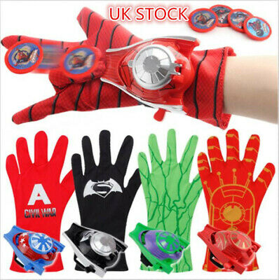 Marvel Avengers Superhero Launchers Gloves Spiderman Game Kids Toy Gift Cosplay