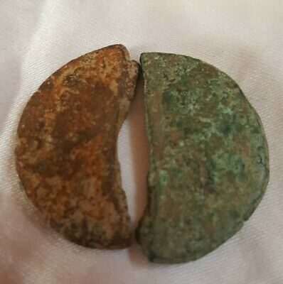 2 Ancient Roman As De Nimes ancient coins Augustus and Agrippa half dupondii