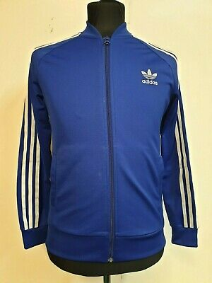 """A480 Boys Adidas Blue White Tracksuit Top Age 12-13 Years 34"""""""