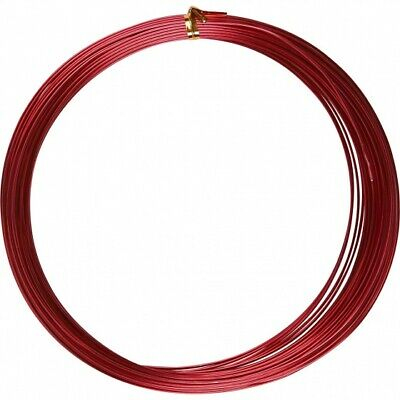 Creotime Aluminum Wire 16 M round 1 mm Red