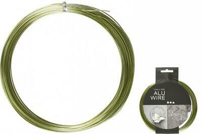 Creotime Aluminum Wire 16 M round 1 mm Green
