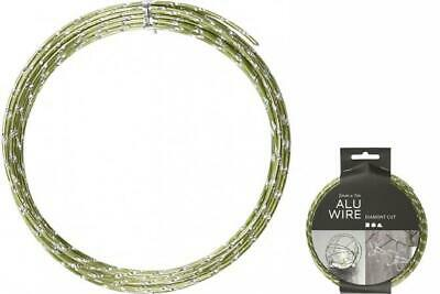 Creotime Aluminum Wire 7 M round 2 mm Green/Silver