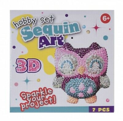 Tender Toys Craft Kits from Sequins Owl 7-teilig