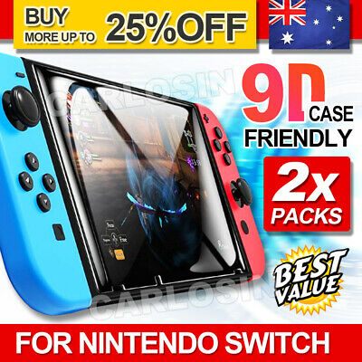 2 X CALORO Nintendo Switch Tempered Glass Screen Protector for Nintendo Switch
