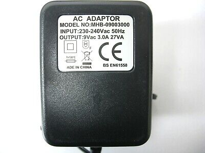 AC Adapter For Digitech PDS-8000 ECHO+PLUS Bottom of Pedal Power Supply Charger