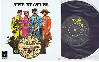 """THE BEATLES sgt. pepper`s lonely hearts club band 7""""EP -1967- sweden original"""