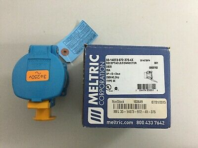 Meltric 33-14073  20 Amp 250 Volt 3 Pole Receptacle Connector