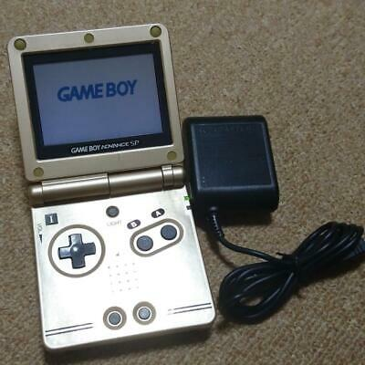 Nintendo Game Boy Advance SP Gold Console Handheld System GBA Excellent Rare JPN