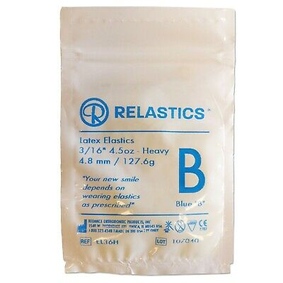 Orthodontic Elastic Bands ~ Latex 3/16 4.5oz Heavy Elastics Between Teeth Braces