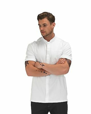 Dennys Le Chef White / Black Short Sleeve Prep Jacket DF118E/C - Contemporary