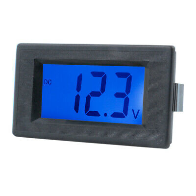 DC 4-30V Digital Voltmeter Volt Meter Tester Blue LCD Display Two Wires