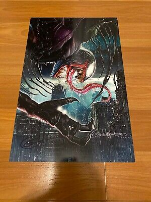 Greg Horn Comic Kunstdruck Spiderman 300 Venom USA Marvel Comics 11x17 Selten