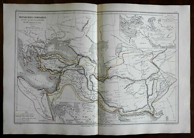 Empire of Alexander Persian Empire Cyrus the Great 1872 Belin historical map
