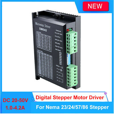 Digital Stepper Motor Driver 1.0-4.2A 20-50VDC For Nema 17/23/24 57/86 PUL/DIR