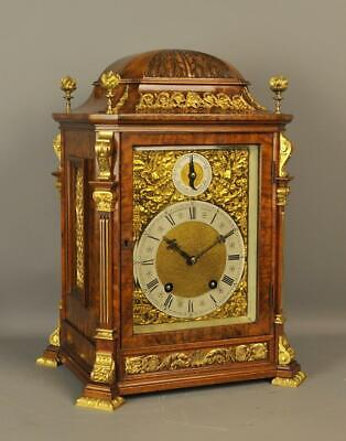 Lenzkirch Burr Walnut Bracket Clock