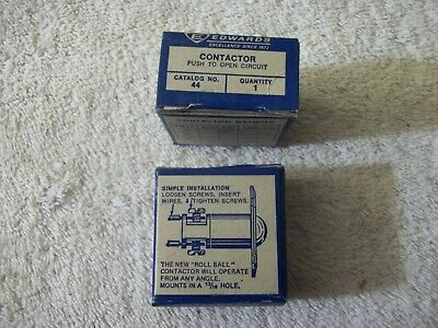 GS EDWARDS 44 CONTACTOR PRESSURE ON BALL OPENS CIRCUIT FREE SHIPPING