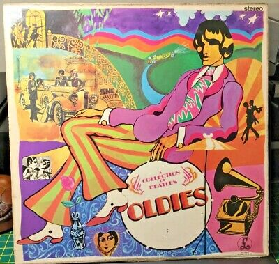 "Th Beatles ""A Collection Of Beatles Oldies"" Vinyl Lp Record Stereo Silver/Black"