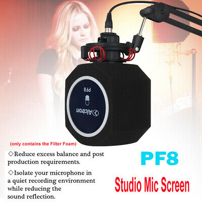Professional Studio Wind Screen Vocal Acoustic Recording Reflection Filter Foam