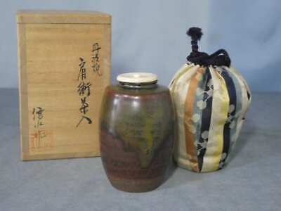 Tea Caddy Ceremony Chaire Tanba-yaki Sado Japanese Traditional Crafts t646