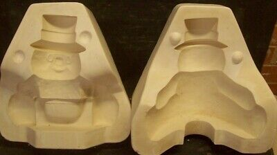 Ceramic Mold Molds SNOWMAN BASKET HUGGER Clay Magic 858