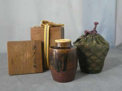 Tea Caddy Ceremony Chaire Sado Japanese Traditional Crafts t653