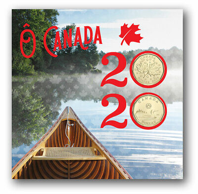 2020 O Canada Gift Set Of 6 Coins Including Two Different $1 Coins ~ A First!