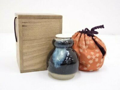 Tea Caddy Ceremony Chaire Kyo-ware Sado Japanese Traditional Crafts t661