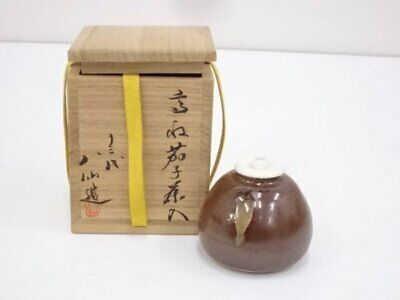 Tea Caddy Ceremony Chaire Takatori-ware Sado Japanese Traditional Crafts t665