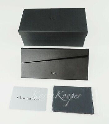 Christian Dior Sunglasses Case Cloth Eyeglasses Glasses Authenticity Card Box