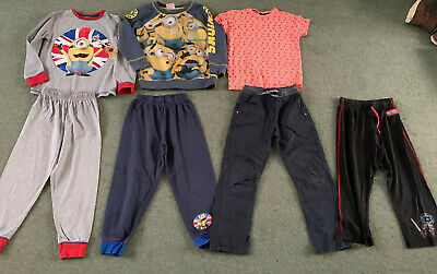 Boys Bundle Of Clothes Age 6-7 Years Pyjamas Tshirt Trousers Minions Next Jumper
