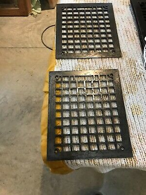 Tk 30 2Av Price Each Antique Heat Grate Face Cleaned 9 3/8 X 11 3/8""