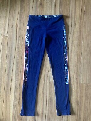 Ivivva By Lululemon Leggings Girls Sz 10 Blue Pink Neon Full Length