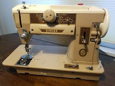 Vintage Singer 401A Sewing Machine untested, see pics.   Free ship.      1R4
