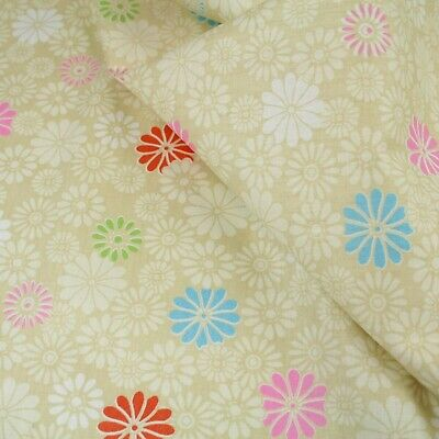 "Floral Dress Material 100% cotton fabric sold by the meter 63"" Wide"
