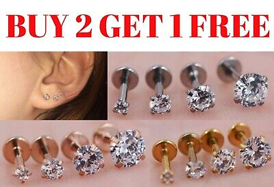 Labret Monroe Tragus Bar Bars Helix Cartilage UpperEar Lip Stud Piercing Gem