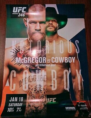 """18x24 UFC 246 Promotional Poster featuring Conor McGregor and Donald """"Cowboy'..."""