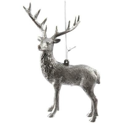 Plastic Rustic Deer Ornament, Assorted Styles with Hanger