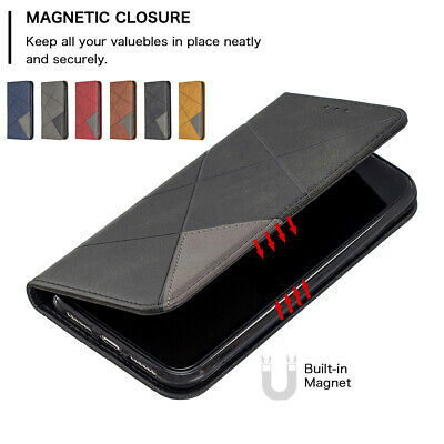 For Samsung Galaxy S10 Plus S10e Flip Leather Magnetic Wallet Case Cover Stand