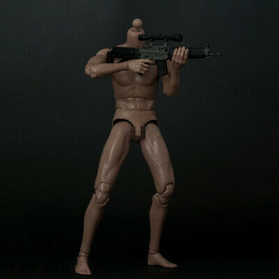 "1/6 Scale Narrow Shoulder Muscular Male Body For 12"" Figure Hot Toys Phicen Doll"