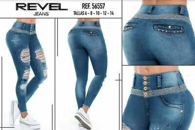 REVEL, Jeans Colombianos, Authentic Colombian Push Up Jeans,Levanta Cola